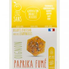 5 SANS - Biscuit apéro paprika fumé oignon BIO - Apéritif et biscuits salés - 4668