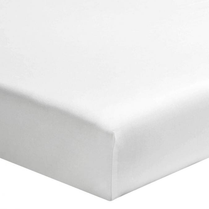 A demain - le linge français - Drap housse coton lave - mont blanc - 180*200 - drap housse