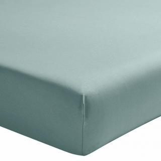 A demain - le linge français - Drap housse percale lavee -cevennes - 140*200 - drap housse