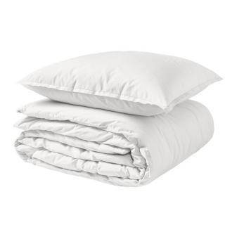 A demain - le linge français - Parure de lit fabriquée en france albatre - Taie d'oreille 50*75 - Housse de couette 240*200 - Parure de lit