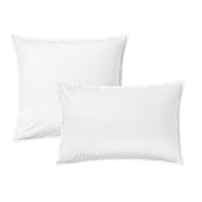 A demain - le linge français - Parure de lit fabriquée en france Mont-Blanc - Taie d'oreille 65*65 - Housse de couette 240*220 - Parure de lit