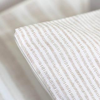A demain - le linge français - Parure de lit fabriquée en france petites rayures - Taie d'oreille 65*65 - Housse de couette 240*220 - Parure de lit