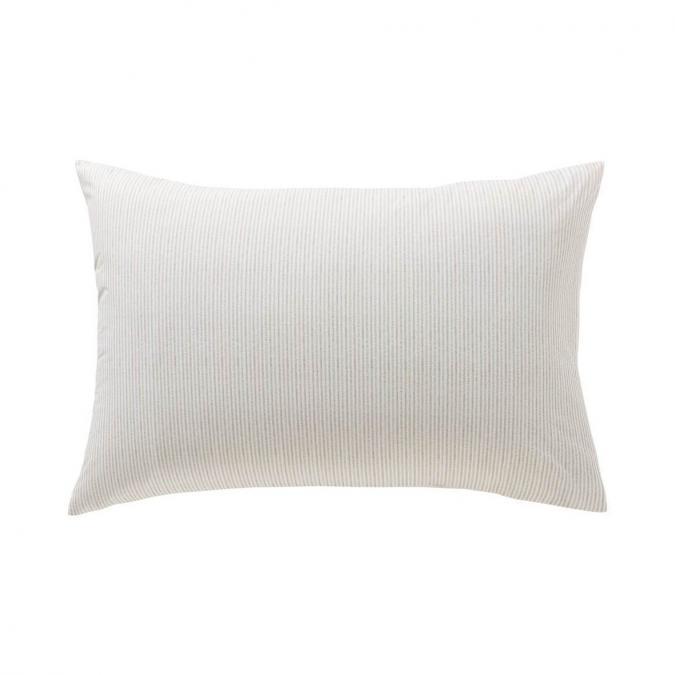 A demain - le linge français - Taie d'oreiller petite rayure - lot de 2 - Taie d'oreiller