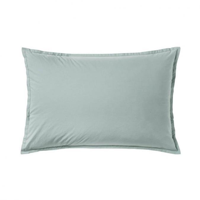 A demain - le linge français - Taie d'oreiller unie percale lavee cevennes - Lot de 2 - Taie d'oreiller