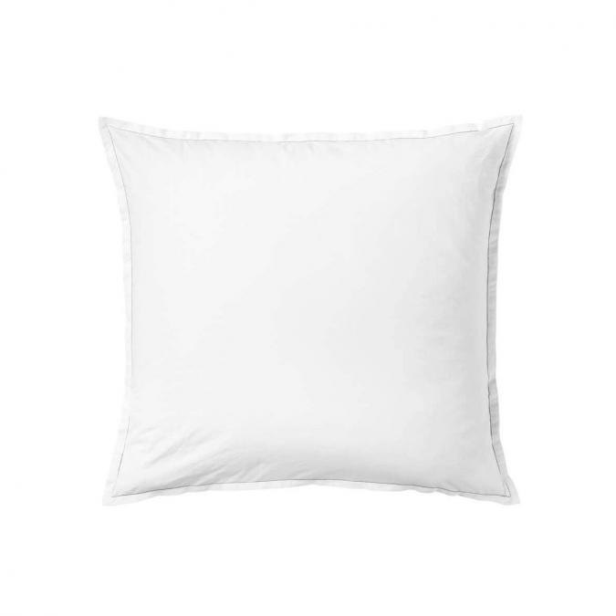 A demain - le linge français - Taie d'oreiller unie percale lavee mont-blanc - lot de 2 - Taie d'oreiller