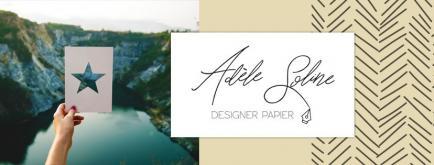 Adèle Soline - Designer papier.  Papeterie, décorations et boites en papier, infographie.