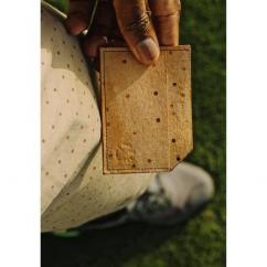 AFRICANBOYZCLUB - Porte-carte 100% cuir Pecari fait main - Porte-carte - Beige