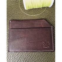 AFRICANBOYZCLUB - Porte-Carte 100% cuir vegetal fait main - MARRON - - Porte-carte - Marron