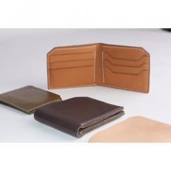 AFRICANBOYZCLUB - PORTEFEUILLE homme en cuir , Porte-cartes en cuir de vache, Portefeuille cuir homme, Porte cartes golf, cadeau pour golfeur, golf gift - Portefeuille - Beige