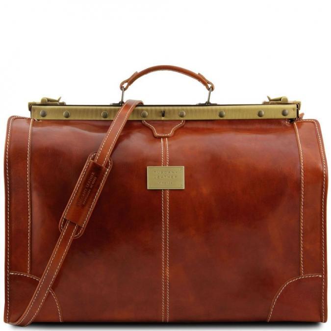 Ambi Hose Bags - MADRID Sac de voyage en cuir - Grand modèle miel - Sac de voyage