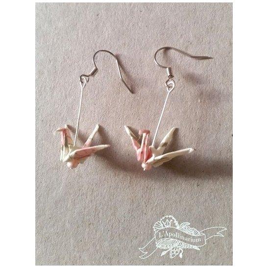 L'Apollinarium - Boucles d'oreille en papier Japonais - Boucles d'oreilles-origami