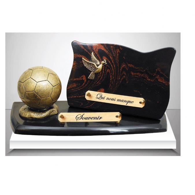 ARTIS FUNERAIRE - Plaque Funéraire Football - Plaque Funéraire