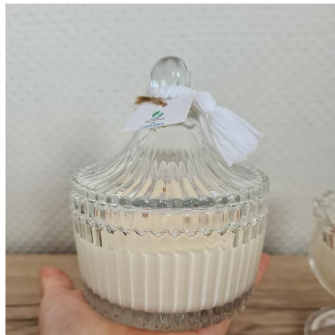 Atelier Kynttilä - Bougie Esma - Eclats d'amande - 195g - ___Bougie parfumée