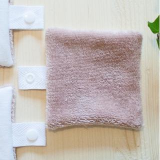 Atelier Beige - Recharge 3 lingettes Bambou Flore N°2 - Lingette lavable