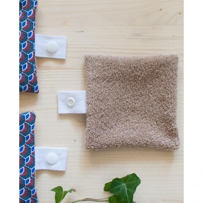Atelier Beige - Recharge 3 lingettes Coton Hestia N°1 {Série Limitée} - Lingette lavable