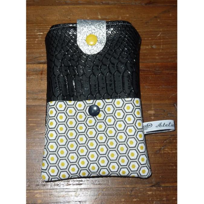 Ateliermarilo - Etui portable ou lunette 27 - Etui de téléphone - Noir