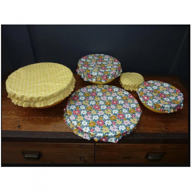 Ateliermarilo - Lot couvre plat tissu enduit 1 - recouvre plat