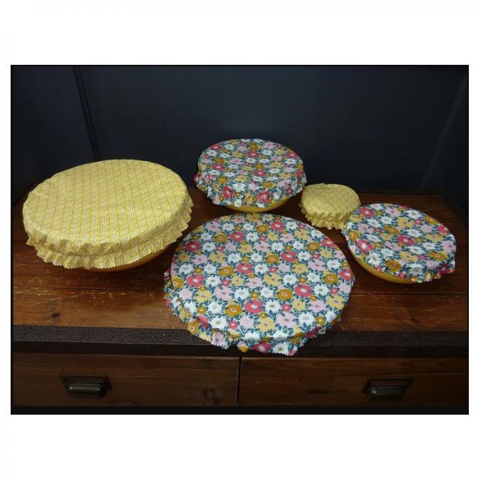 Ateliermarilo - Lot couvre plat tissu enduit 10 - recouvre plat