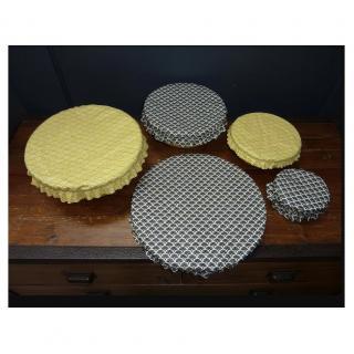 Ateliermarilo - Lot couvre plat tissu enduit 3 - recouvre plat