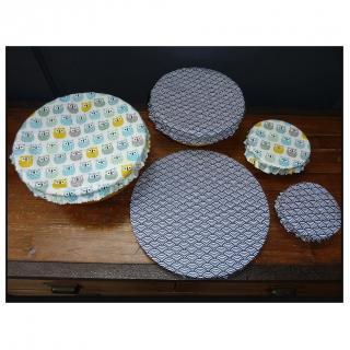 Ateliermarilo - Lot couvre plat tissu enduit 5 - recouvre plat