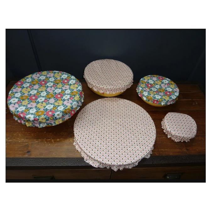 Ateliermarilo - Lot couvre plat tissu enduit 6 - recouvre plat