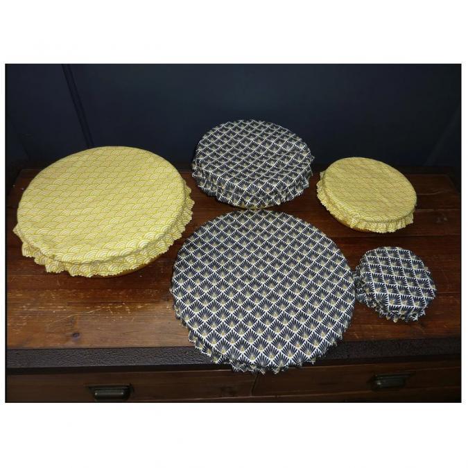 Ateliermarilo - Lot couvre plat tissu enduit 7 - recouvre plat