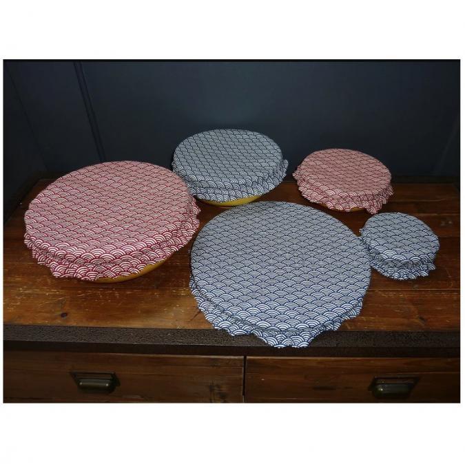 Ateliermarilo - Lot couvre plat tissu enduit 9 - recouvre plat