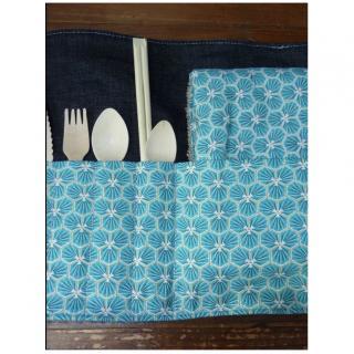 Ateliermarilo - Pochette à couvert 1 - Couvert - Bleu