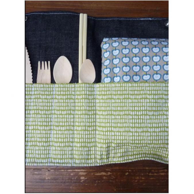 Ateliermarilo - Pochette à couvert 10 - Couvert - Vert