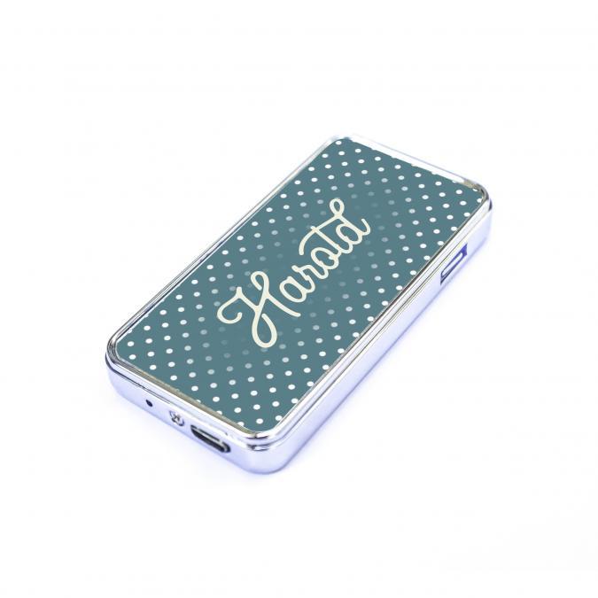 Atomania - Briquet personnalisable bleu – Briquet USB - coffret cadeau