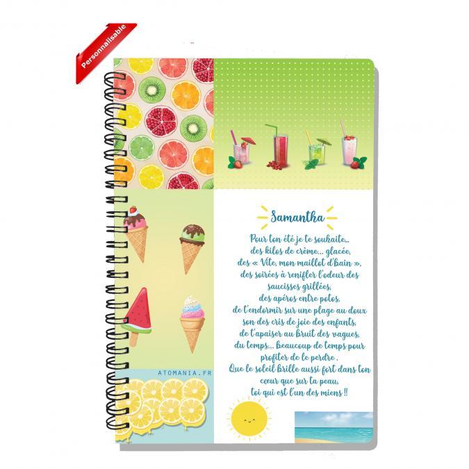 Atomania - Des souhaits pour l'été - Cahier personnalisable à votre prénom - ___Papeterie - Carterie