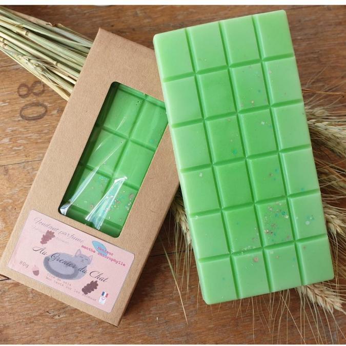 Au Grenier du Chat - Fondant tablette de cire de soja à la menthe - Fondant (cire)