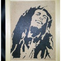 Au Joli Bois - Bob Marley portrait chantourné sur bois - portrait chantourné