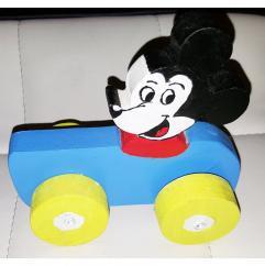 Au Joli Bois - Voiture Mickey en bois - jouet en bois