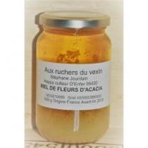 Aux Ruchers du Vexin - Un toit pour les abeilles - Miel d'acacia 500 g - Miel - 500 gr