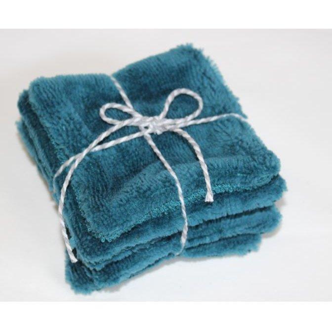 Aux bêl'fleurs - Lingettes Lavables Bleu Paon - Lingette