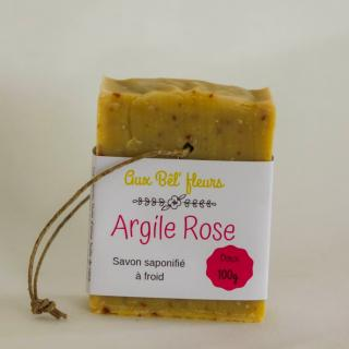 Aux bêl'fleurs - Savon Argile Rose - Savon - 0.100