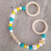 BabyDreamer - Double anneau de dentition personnalisé - Anneau de dentition