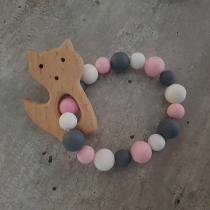 BabyDreamer - Hochet Montessori Rose Blanc gris - Hochet