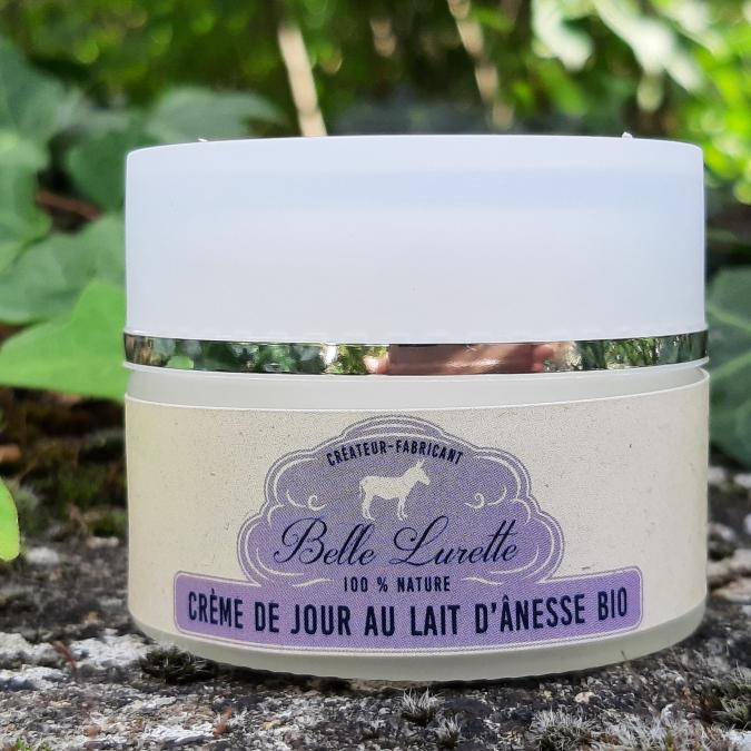 Belle Lurette - Crème visage au lait d'ânesse bio - Crème pour le visage
