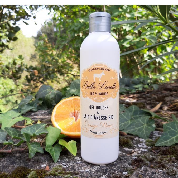 Belle Lurette - Gel Douche au Lait d'Ânesse Bio Orange Douce - Gel douche - 0.25