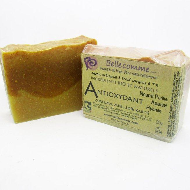 Bellecomme - Savon Antioxydant Curcuma, Miel, Karité - Savon - 95g