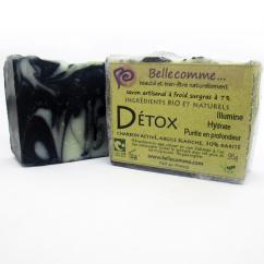 Bellecomme - Savon Détox Charbon activé, argile blanche, karité - Savon - 95g