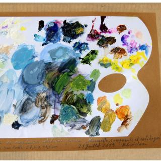 Bernard Guédon, Art et Nature - Peinture Marmotte , huile sur toile - Peinture - 27,5 cm x 41,5 cm