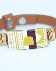 bijouxenfolie - bracelet graphique - Bracelet - Polymère