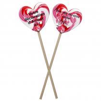 Les biscuits identitaires, impression friandises - Saint valentin, Mariage, amour, 2 Sucettes personnalisées selon vos désirs - Bonbons