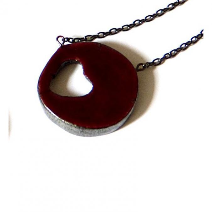 BLcreafimo - Collier coeur rouge - Collier -