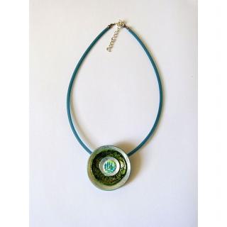 BLcreafimo - Collier rond vert - Collier - Polymère