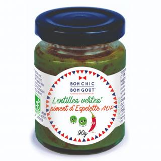 BON CHIC BON GOUT - Tartine lentille piment d'Espelette BIO - Tartinade