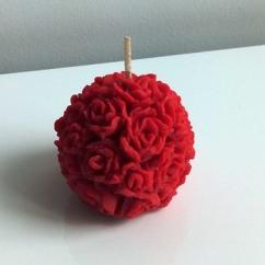 Améliane - Bougie ronde décorée de roses - Bougie - Sans parfum